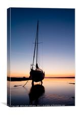 Yacht sunrise, Canvas Print