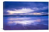 Sunset over Eile Beach, Canvas Print