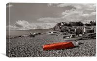 Budleigh beach, Canvas Print