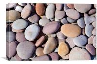 Budleigh Pebbles, Canvas Print
