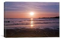 Elie beach Sunset, Canvas Print