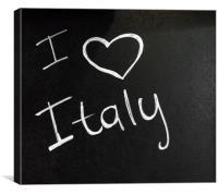 I love Italy, Canvas Print