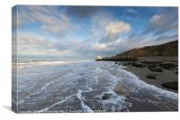 Bright light at Reculver, Canvas Print