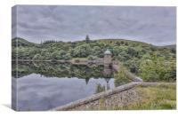 Peny garreg reflections, Elan Valley, Canvas Print