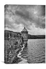 Craig Goch, Elan Valley black and white, Canvas Print