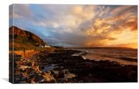 Sunset over Ballycastle, Canvas Print