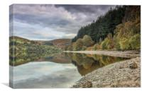 Waters Edge, Penygarreg, Elan Valley, Canvas Print