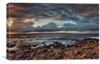 Rathlin Island from Ballycastle, Ireland, Canvas Print