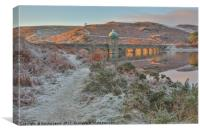 Fire and Frost, Craig Goch Dam, Elan Valley, Canvas Print