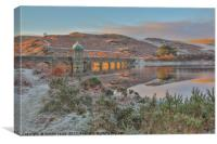 Elan Valley, Craig Goch, Fire and Frost 2 , Canvas Print