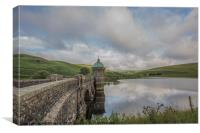 Elan Valley Craig Goch in the fresh green of summe, Canvas Print