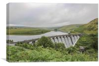 Elan Valley, Craig Goch summer fresh, Canvas Print