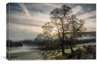 Troedrhiwdrain, Penygarreg sunrise, Elan Valley, Canvas Print