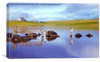 The Tranquil Loch of Tingwall Shetland, Canvas Print
