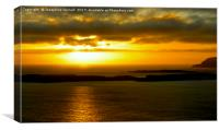 Gold Night Skies in Shetland, Canvas Print