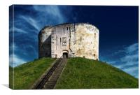 Clifford Tower York, Canvas Print