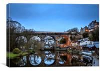 Knaresborough Bridge, Yorkshire, Canvas Print