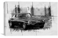 Jaguar E-Type Racer, Canvas Print