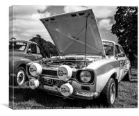 ford escort, Canvas Print