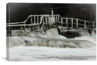 Sturminster Newton mill after heavy rain, Canvas Print