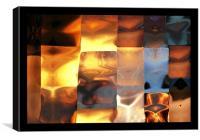 Copper patchwork  2144_53339, Canvas Print
