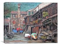 Gondola Workshop, Canvas Print