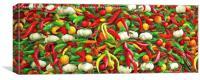 Chillies and Garlic, Canvas Print