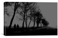 A Winter Walk                               , Canvas Print