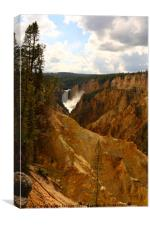 Thundering Waters Of The Yellowstone River, Canvas Print