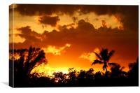 A Tropical Sunset , Canvas Print