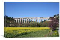 Aqueduct Roquefavour Provence, Canvas Print