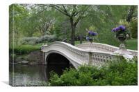 Bow Bridge - Central Park New York , Canvas Print