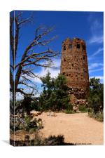 Desert View Watchtower - South Rim Grand Canyon, Canvas Print