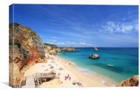 Praia da Dona Ana on the Algarve, Portugal., Canvas Print