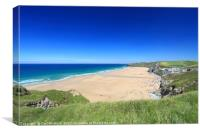 Watergate Bay in Cornwall, England., Canvas Print