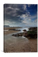Polzeath beach in Cornwall, England., Canvas Print