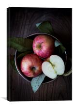 Bowl of red apples, Canvas Print