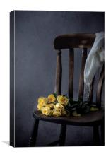 Yellow roses, Canvas Print