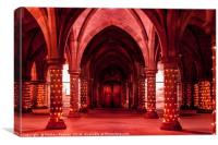 Red Cloisters, Canvas Print