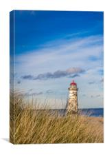 A lighthouse on the North Wales coast , Canvas Print