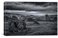 The ruins of a Welsh Castle, Canvas Print