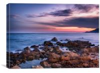 Pastel Sunset Across the Mediterranean Sea , Canvas Print