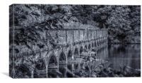 The nineteen arches at Carr Mill Dam St Helens, Canvas Print
