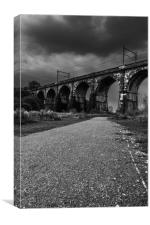 The Sankey Viaduct in Newton Le Willows,Merseyside, Canvas Print