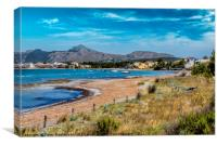 Pollensa Bay and Beach , Canvas Print