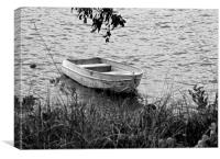 Dinghy (black and white) , Canvas Print
