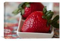 Strawberry love , Canvas Print