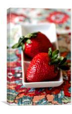 Strawberry duo , Canvas Print