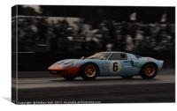 Gulf GT40, Canvas Print