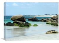 Brittany beach, Canvas Print